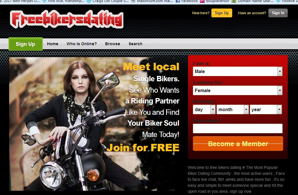 Free biker dating sites uk